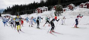 Herrelitklassen i Åre Cross Country Open lockade flera toppskidåkare. Sprinteresset Teodor Peterson var snabb från start.