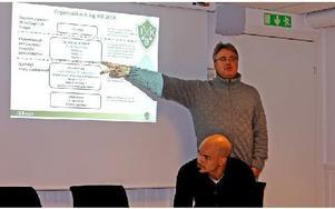 Brages ordförande Per Amund Ruth drog upp riktlinjerna inför nästa säsong. Foto: Johnny Fredborg