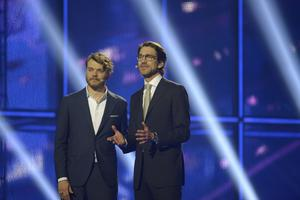 2014 var Pilou Asbæk en programledarna för Eurovision Song Contest i Köpenhamn. Arkivbild.