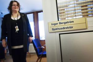 Inger Bergström i en bild från tiden när hon var sjukhusdirektör i Sollefteå.