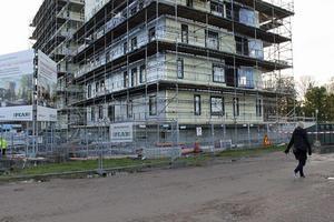 I början av nästa år är det inflyttning i de första lägenheterna  i Kajstaden.