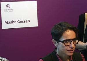 En av de mest frispråkiga och framstående människorättsaktivisterna på bokmssan är Masha Gessen, som signerade sina böcker.
