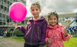 Malien Mallahji och Maryam Oumou tyckte att ballongerna var bäst.