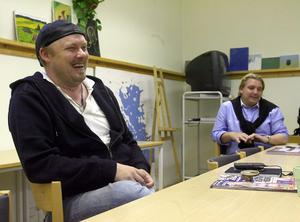 Regissören Reine Lööf och producenten Marcus Hellsten.