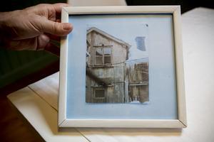 En gammal bild från 70-talet visar hur nedgånget det gamla huset var på den tiden.
