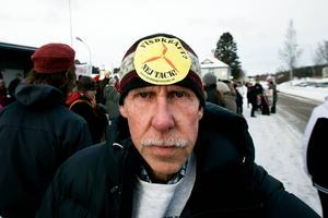 Bo Yngve Nilsson kom från Rödön för att protestera.