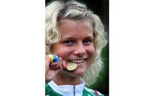 Jenny Rissveds är enda eleven från Falun på cykelgymnasiet som nu vill utöka antal platser.