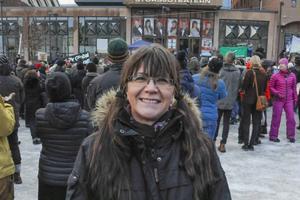 Eleonore Gidlund, Östersund, var glad att så många kommit.