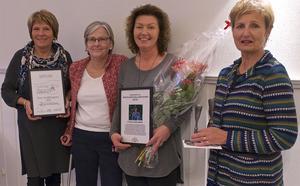 Årets sonfjällsbygdare 2016 är Fjällhälsan, här representerade av Karin Åström, Viviann Dahl, Stina Hedengran och Christina Hansson.