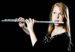 Det känns viktigt att representera Norrland i Landslaget i blåsmusik, tycker Emmeli Nilsson, som är den enda av de 60 medlemmarna som är bosatt norr om Sundsvall.Foto: henrik Flygare