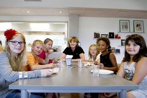 Ida Bergdahl, Isaac Bengtsson, Kerstin Tegeback, Alice Engberg, Isabelle Grundberg, Sabina Gutic på Heliås.