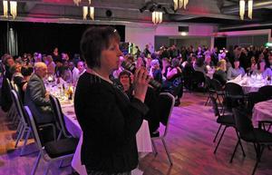 Gunilla Zetterström-Bäcke öppnade jubileumsmiddagen med ett kort tal.