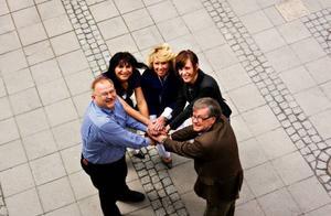 Centerklungan  inför EP-valet; Kenneth Johansson, Abir Al Sahlani, Lena Ek,  Marie Wickberg och Håkan Larsson, vill jobba för gröna värderingar i Europa.