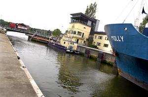 Södertälje kanal. Den utbyggda kanalen beräknas öppna 2019.
