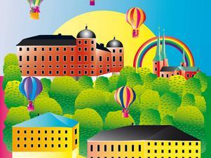 Gävleregissören Olle Törnqvist bjuder in till stadskalas.   Illustration: Uppsala stadsteater