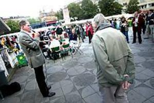 Foto: NICK BLACKMON Umekvartett. Sören Wibe är ordförande i socialdemokrater mot EMU och därmed en centralperson i nej-rörelsen. Jonas Sjöstedt, v, Lena Sandlin, s, och Maud Olofsson, c, är andra nej-ledare från Umeå.