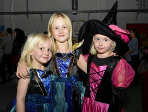 Syskonen Milla och Matilda Mårtensson, 4 och 6 år, var på disco tillsammans med sin kusin Frida Hedström.