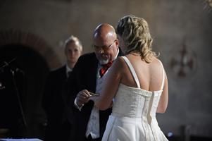 Bröllop i Stora Tuna kyrka i Borlänge.