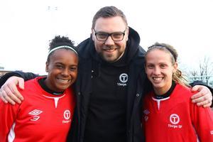 Samantha Brand, tränare Daniel Sundström och Lindsay Zullo.