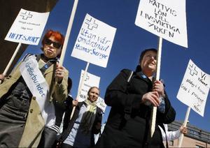 Den här bilden från sjuksköterskestrejken våren 2008 får visa den turbulenta tid som varit inomlandstinget under denna mandatperiod.