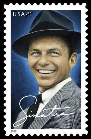 Frank Sinatra som frimärke.