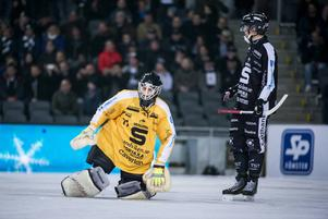 Abbe Bodin under SM-finalen på Tele2 Arena förra året. VSK vann med 6-4.