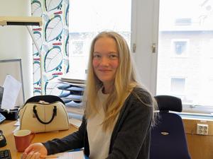 Härifrån kontoret sköter Caroline Johansson sina mötesbokningar och andra ärenden.