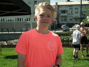 Hampus Bodin, en av de yngsta deltagarna, blev fyra i det kortare loppet.