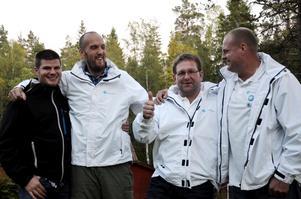 Sverigedemokraterna Tomas Berntsson, Andreas Forsberg, Jens Pettersson och Ronnie Wegerstedt var mer än nöjda med resultatet av både kommun- och riksdagsvalet.