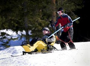 Tänndalens IF får ett stöd på fyra miljoner för att anpassa en slalombacke till skicartåkning. Arkivbild.