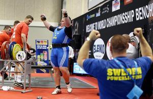 Det blev en enkel match när Calle Nilsson från Bergsjö fixade sitt första VM-guld.