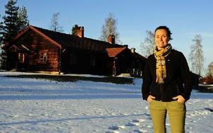 Cia Melvindotter, verksamhetschef på ScaDuMe i Dalarna AB, ser fram emot att hälsa barnen välkomna till den nya förskolan. Foto: Elin Broman