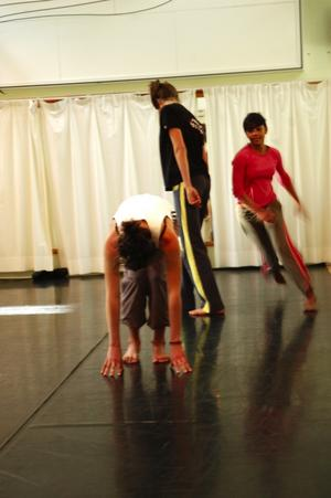 Teknik. Dynamik och kraft är viktigt i koreografin. Foto:Karin Janson