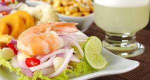 Ceviche - en av Perus typiska rätter.