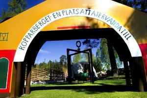 Hål 15. Välkända gruvportalen bjuder in till ett av hålen, som avslutas med ett besök i Stora Stöten!