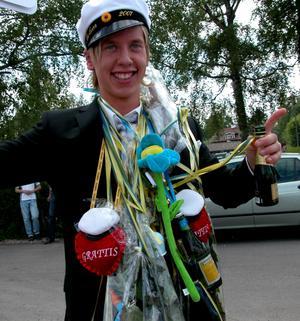 Viktor Karlsson hade anledning att dra på smilbanden.