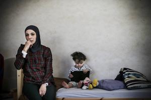 Haleemeh Abedelkhalik Alnatour är från Jordanien. Men hon kan inte leva ett normalt liv med sin man och sina barn där. Arkivbild.