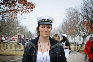 För Mikaela Thorssell, Järvsö, var det både en glädjens och sorgens dag. Det var inte lätt att skiljas från klasskamraterna.
