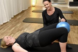 Efter graviditets-träning bygger ofta på långsamma och lugna rörelser.