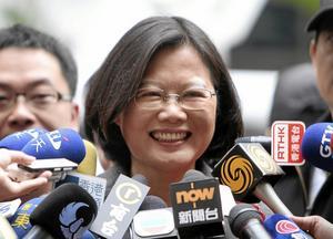 Vinnare? Enligt en opinionsmätning har Tsai Ing-wen goda chanser att vinna presidentvalet i Taiwan den 16 januari. Arkivfoto: Chiang Ying-ying