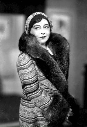 Skådespelerskan Harriet Bosse några decennier senare.
