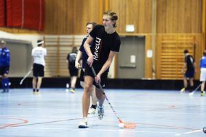 Johannes Nilsson går på innebandygymnasiet i Sundsvall och tränar flera gånger i veckan.