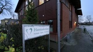 Ett klassrum på Hannaskolan besköts vid lunchtid på torsdagen.
