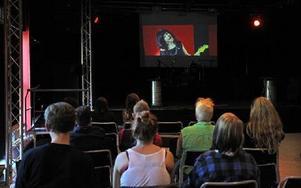 En av programpunkterna på Falu Pride var visning av filmer som bryter normen. Foto: Curt Kvicker