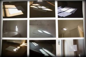 Foton av solreflektioner.