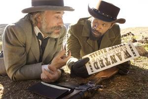 """Christoph Waltz och Jamie Foxx. De spelar två av de största rollerna i """"Django Unchained"""".                                                                                               Foto: Andrew Cooper/The Weinstein Company"""