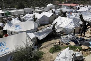 Flyktinglägret Moria på den grekiska ön Lesbos drivs av FN:s flyktingkommissariat UNHCR.