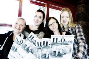 Amanda Grankvist, Lina Wängelin, Emma Sjöberg och Ida Ejekrans ger ut H-Öbladet