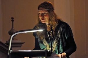 Församlingspedagogen Ingrid Weilguni Larsson berättade lite om vilka ämnen som riddarna hade berört under hösten och vintern.
