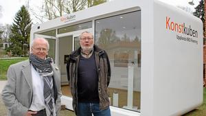 Hebykonstnärerna ÅC Danell och Bengt Ander ställer ut i Konstkuben.